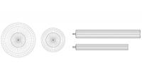 Multi-size dugački gumeni blindovi. Plugy DC